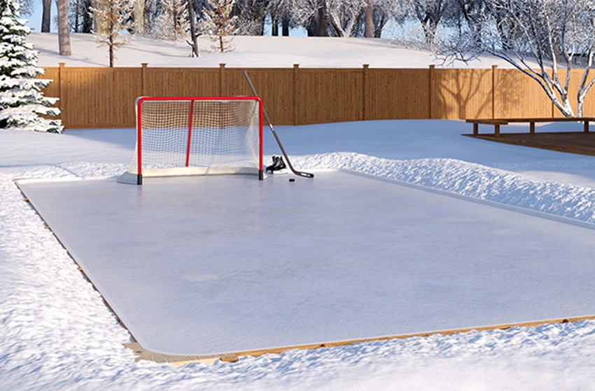 Charming Backyard Ice Rink