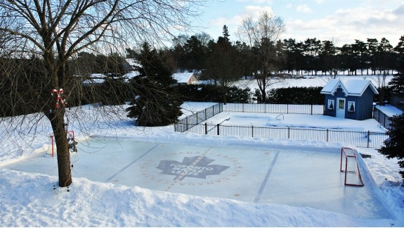 Wonderful Backyard Ice Rink Liners